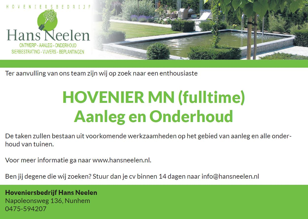 advertentie hans neelen